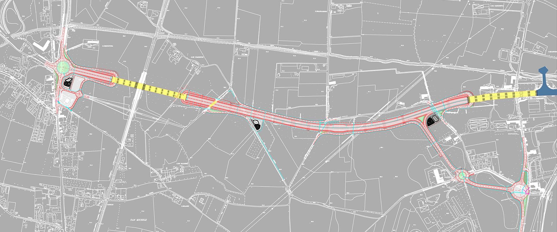 VARIANTE DI ALESSANDRIA - TRATTO OSTERIETTA: Planimetria del tracciato