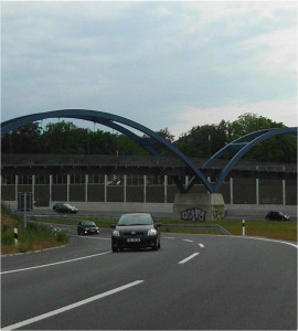 Ausbau der Bundesautobahn 59 in Duisburg - Ansicht Fahrbahn