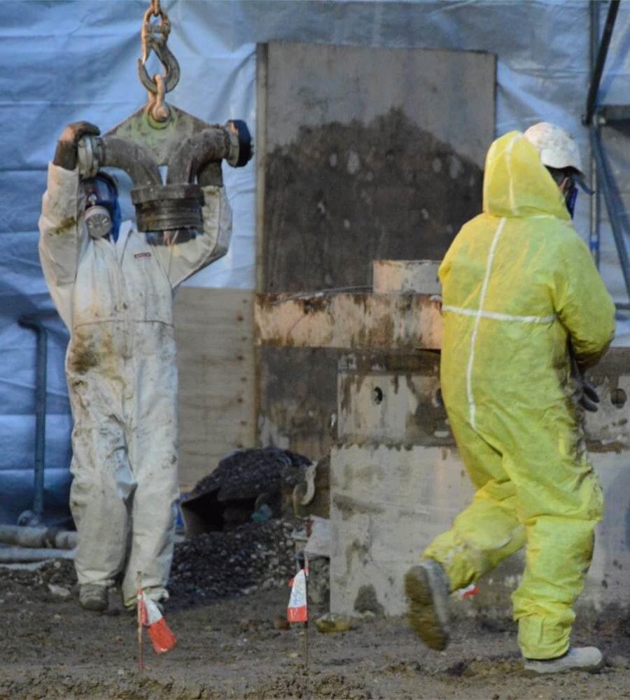 Sanierung der Chemischen Reinigung Purotex - Sanierungsarbeiten