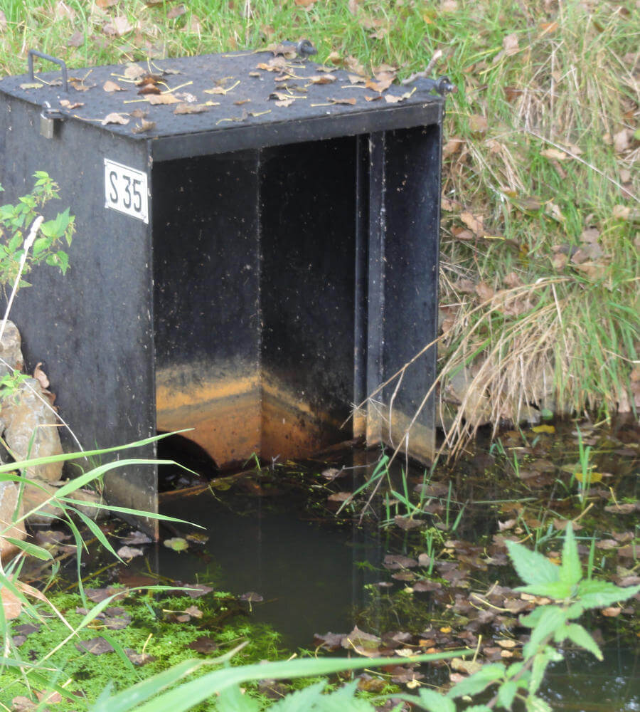 Anbindung Greifenheiner Fließ in Vetschau - Ansicht Abwasser