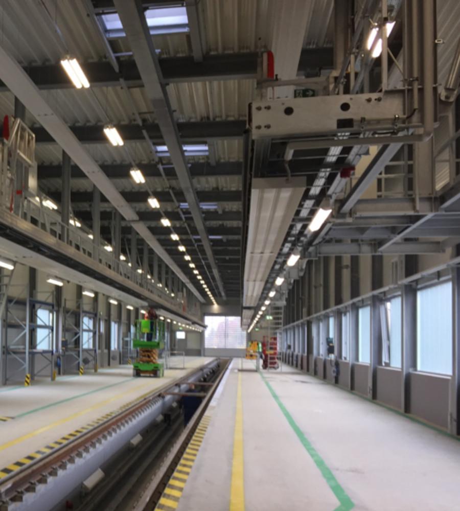 Werkstatt der DB-Regio Münster - Innenansicht