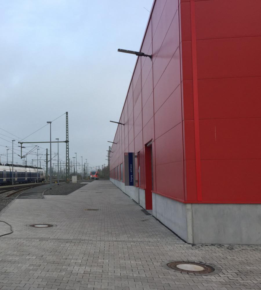 Werkstatt der DB-Regio-Münster - Außenansicht