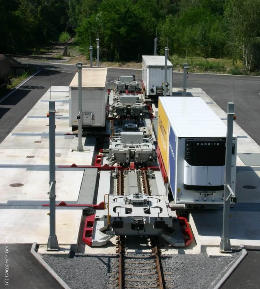 Projekt - CargoBeamer Terminal - Umschlagvorgang - Spiekermann GmbH Consulting Engineers