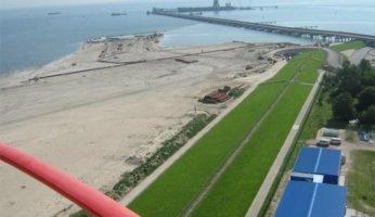 Machbarkeitsstudie - JadeWeserPort Logistics Zone II Wilhelmshaven - Luftaufnahme